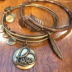 Lot of 8 gold/rose gold Alex and Ani
